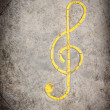 Grunge musical note background — Stock Photo