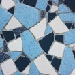 Mosaic wall decorative ornament from ceramic broken tile — Stock Photo #29286149