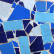 Ceramic broken tile -  decorative mosaic wall — Стоковая фотография