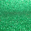 Abstract green glitter lights or Christmas background — Stock Photo