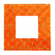 Orange frame with oriental ornaments — Stock Photo