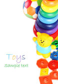 Collection of toys isolated on white — Stock Photo