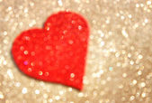 Red valentines day background. or defocused lights background with heart shape — Stock Photo