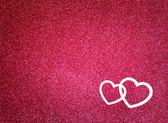 Třpytky růžové pozadí abstraktní s tvaru srdce a textury — Stock fotografie