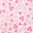 Valentines hearts in pink, with a grungy background texture  — Foto Stock