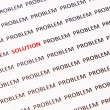 Concept of crossing out problem and finding the solution — Stock Photo #29371085