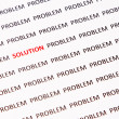 Concept of crossing out problem and finding the solution — Stock Photo