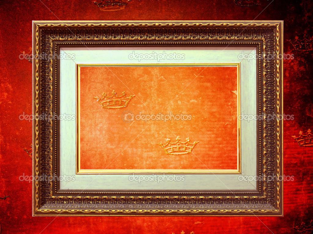 Golden Frame Wallpaper Golden Frame Over Grunge