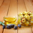 Stock Photo: Piquant olives with spicy chilli