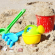 Children's beach toys — Stock Photo