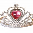 Toy tiara with pink diamond.  — Stockfoto