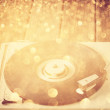 Stock Photo: Vintage record player. vintage gramophone.