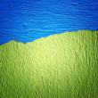 Blue and green wall texture — Stock Photo