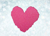 Heart from tor paper — Stock Photo