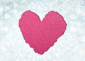 Heart from tor paper — Foto de Stock