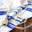 Prayer Shawl - Tallit, jewish religious symbol — Stock Photo #37281277