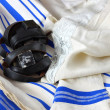 Prayer Shawl - Tallit, jewish religious symbol — Stock Photo #37281331