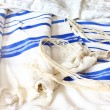 Prayer Shawl - Tallit, jewish religious symbol — Stock Photo #37281463