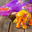 Handcrafted indian elephant — Stock Photo