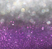 White silver and purple abstract bokeh lights. defocused background — Stock Photo