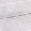 Stock Photo: Obsessive-compulsive disorder (OCD)