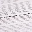 Stock Photo: Attention deficit hyperactivity disorder (ADHD)