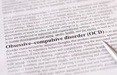 Obsessive-compulsive disorder (OCD) — Stock Photo