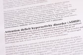 Attention deficit hyperactivity disorder (ADHD) — Stock Photo