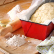 Bread dough ready to rise — Stockfoto