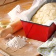 Stock Photo: Bread dough ready to rise
