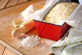 Bread dough ready to rise — Stock Photo