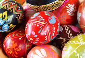 Background with Easter Eggs , or easter eggs closeup — Stock Photo