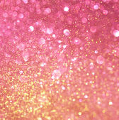 Gold and pink abstract bokeh lights. defocused background — Stock Photo