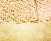 Passover background. matzoh (jewish passover bread) — Stock Photo
