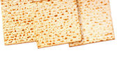 Passover background. matzoh (jewish passover bread) isolated — Stock Photo