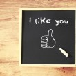 I like you concept — Stock Photo