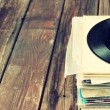 Records stack and old record — Stock Photo #43131419