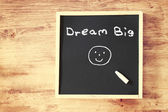 Dream big on chalkboard — Stock Photo