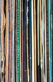 Kolorowe rejestrów stosu — Zdjęcie stockowe