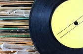 Vintage record with stack — Foto de Stock