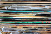 Colored records stack — 图库照片