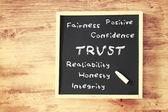 Concetto di fiducia — Foto Stock