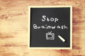 Stop brainwash concept — Stock Photo