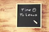 Time to learn concept — Stock Photo