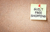 Guilt free shopping concept. — Stock Photo