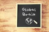 Writing global brain — Stock Photo