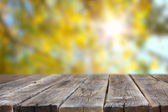 Planks with sun flare — Stock Photo