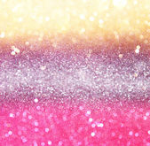 Gold and pink bokeh lights. — Stock Photo