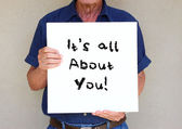 It's all about you!. — Stock Photo