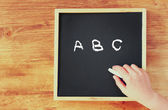 Hand writing abc — Stock Photo